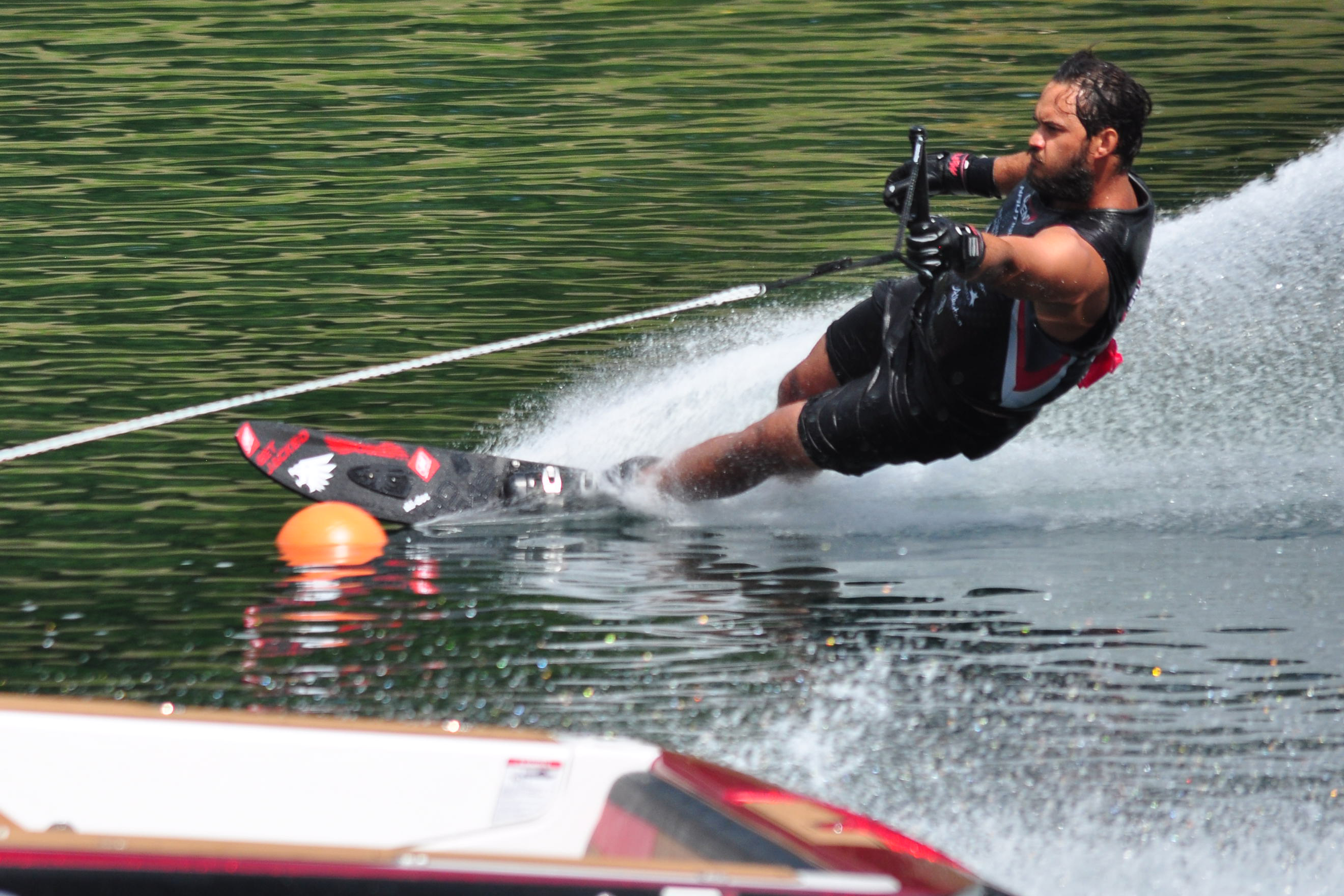 Jon Travers ran 2@41/36mph twice at the Canadian Waterski Open to take 3rd place