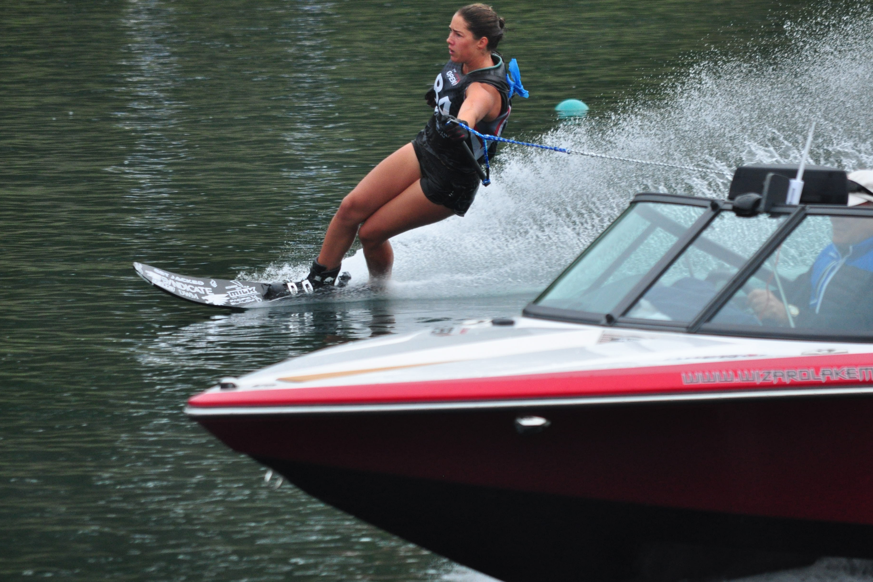 Jaimee Bull came on strong running into 39.5'/34mph consistently, achieving 3rd place at the Canadian Waterski Open